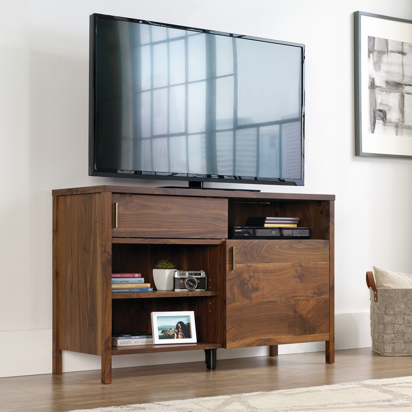 "Harvey Park TV Stand for TVs up to 50"", Grand Walnut Finish"