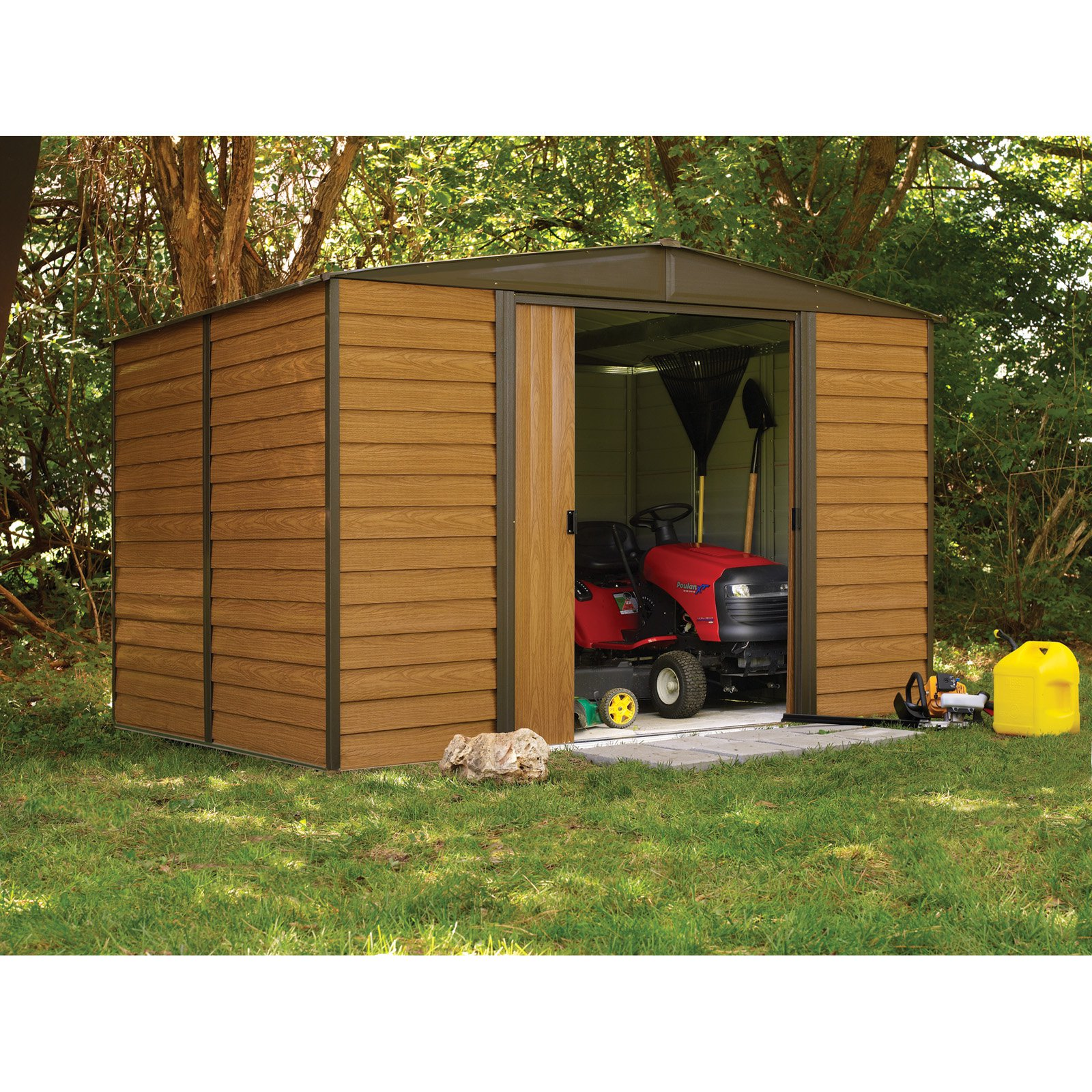 arrow shed woodridge 10 x 8 ft steel storage shed walmartcom