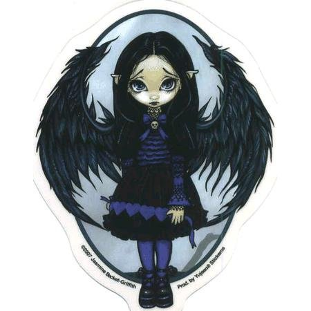 Purple Paper Hearts Fairy by Jasmine Becket-Griffith - Sticker / (Hearts Fairy Sticker)