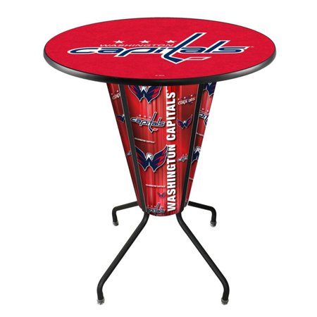 Holland Lighted NHL Team Pub Table with Logo Top ()
