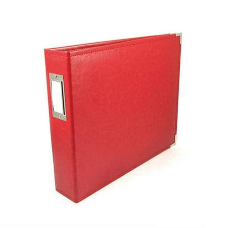 Scrapbook Classic Leather 3 Ring Album Red 12x12 Walmart