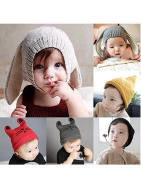 f736b9294b3 Product Image Baby Toddler Girl Boy Cute Rabbit Ear Cat Knit Earflap Beanie  Hat Warm Soft Cap