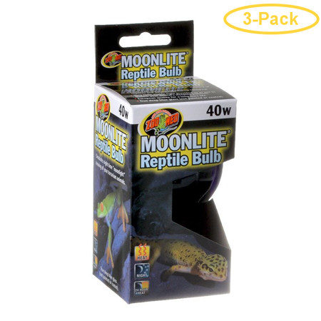 Zoo Med Moonlight Reptile Bulb 40 Watts Pack Of 3