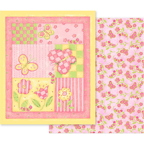 Creative Cuts Nursery Blanket Fabric Kit, Butterfly
