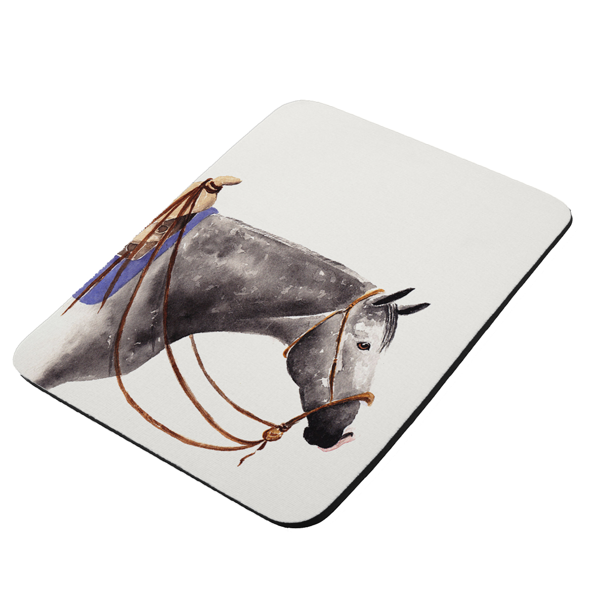 Dappled Gray Quarter Horse Art by Denise Every - KuzmarK Mousepad / Hot Pad / Trivet