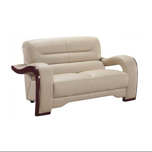 Global USA 992-RV Bonded Leather Loveseat in Cappuccino