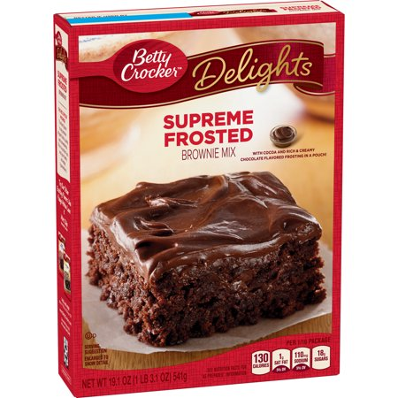 (4 Pack) Betty Crocker Delights Brownie Mix Supreme Frosted, 19.1 oz