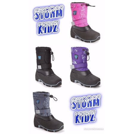 Storm Kidz Cold Weather Kid's Snow Boots (Toddler/Little Kid/Big Kid) 3101 (Kids Silver Boots)