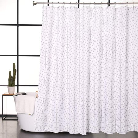 Mildew Resistant Shower Curtain Anti Bacterial Heavy Duty Water Liner 72 X 72Styles May Vary
