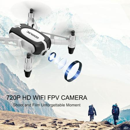 GoolRC T700 720P Wifi FPV Mini Selfie Drone G-Sensor Altitude Hold RC Training Quadcopter w/ 3 Battery for Beginners Kids - image 1 de 7