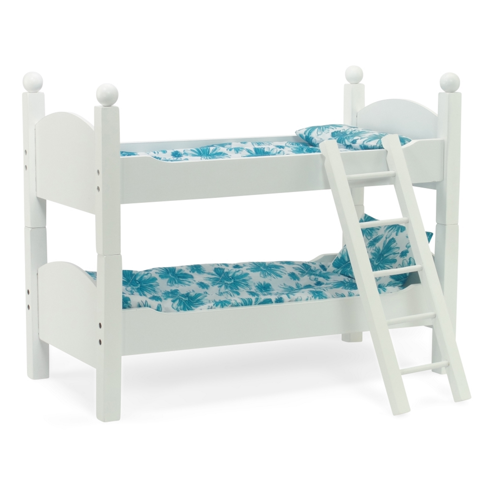 """White Bunk Bed Doll Furniture 