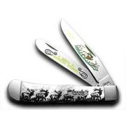 Case xx White Pearl Elk Trapper 1/600 Pocket Knife Knives