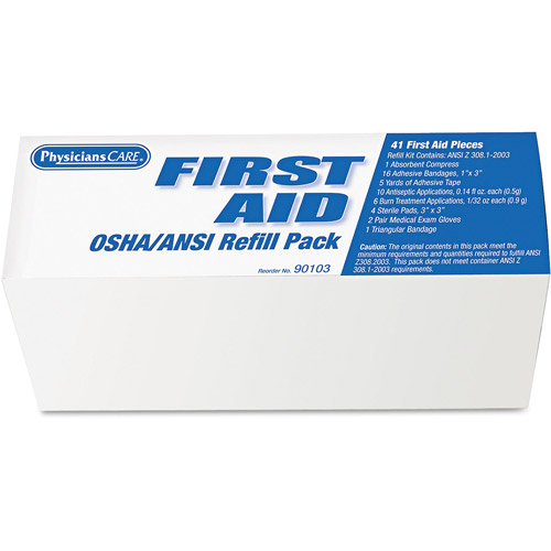 PhysiciansCare First Aid OSHA/ANSI Refill Pack, 50 pc