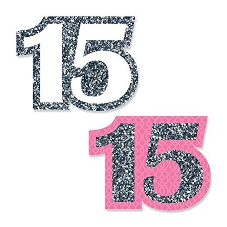 Quinceanera Pink - Sweet 15 - DIY Shaped Birthday Party Cut-Outs - 24 Count](Quinceanera Favors)