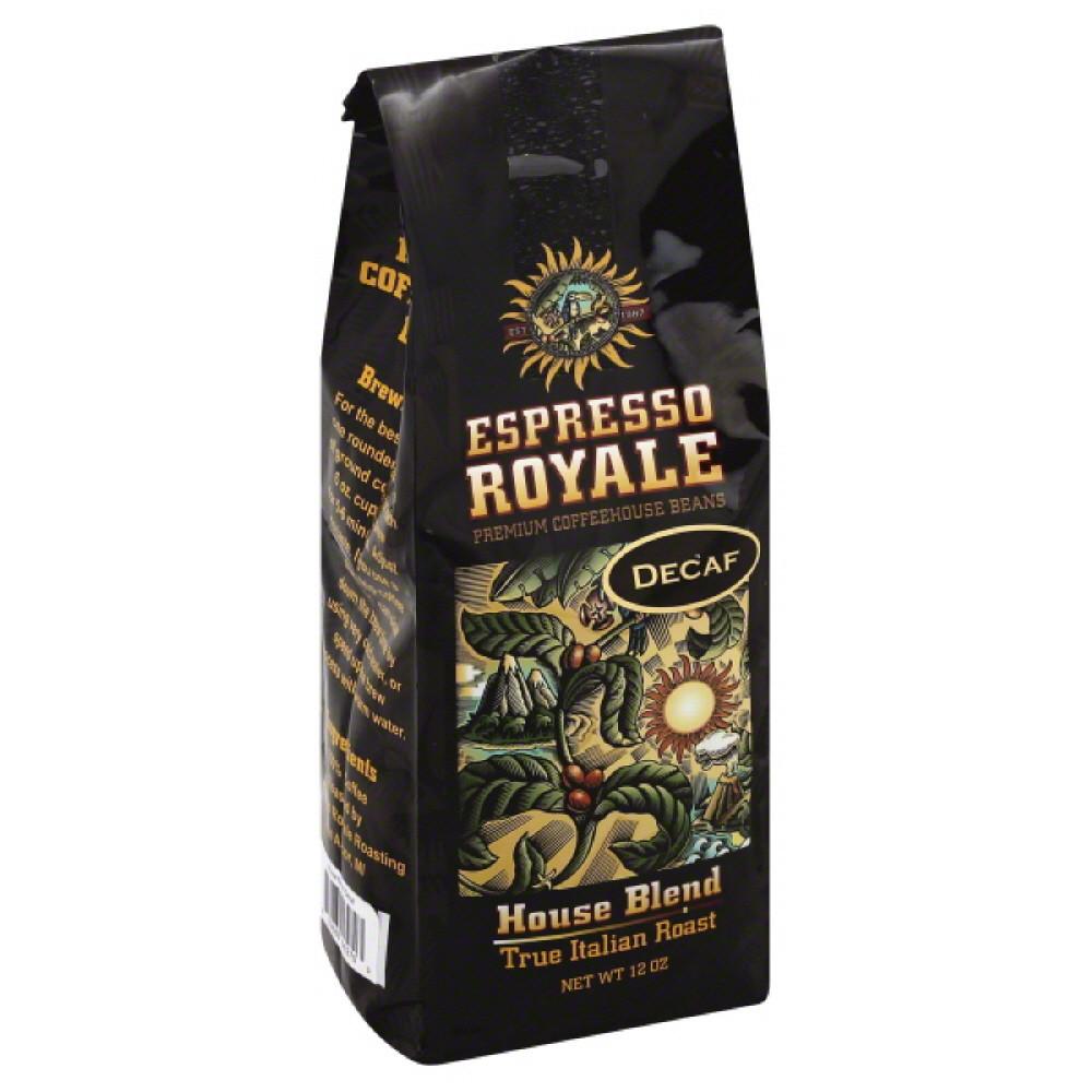 Espresso Royale Coffee, True Italian Roast, House Blend, Decaf
