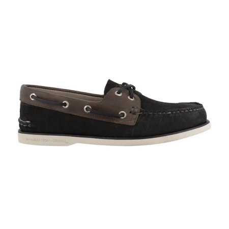 Sperry Gold Shoes (Sperry STS17323: Black Gold A/O 2-Eye Nubuck Boat Sneaker )