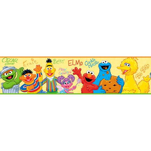 RoomMates - Sesame Street Peel & Stick Border