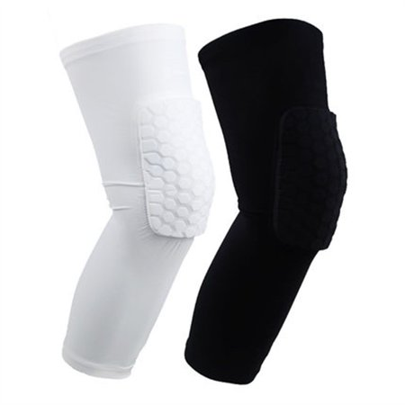 (Kids Adult Pad Basketball Leg Knee Long Sleeve Protecting Gear Crashproof Knee Pads Calf Support Ski/Snowboard Kneepad)