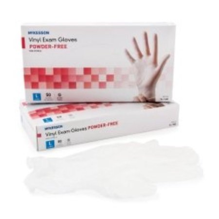 Exam Glove McKesson Confiderm  NonSterile Powder Free Vinyl Smooth Clear Large Ambidextrous (#14-168, Sold Per Box)