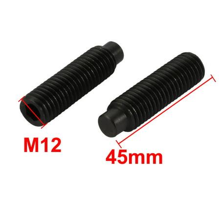 5pcs M12x45mm alliage acier Grade 12.9 Vis sans tête à six pans creux - image 2 de 3