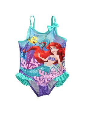 Toddler Kids Girls Bathing Tankini Bikini Suit Swimwear Little Mermaid Costume
