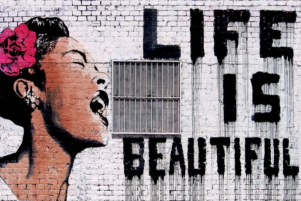 Banksy Poster 36 x 24 Life Is Beautiful