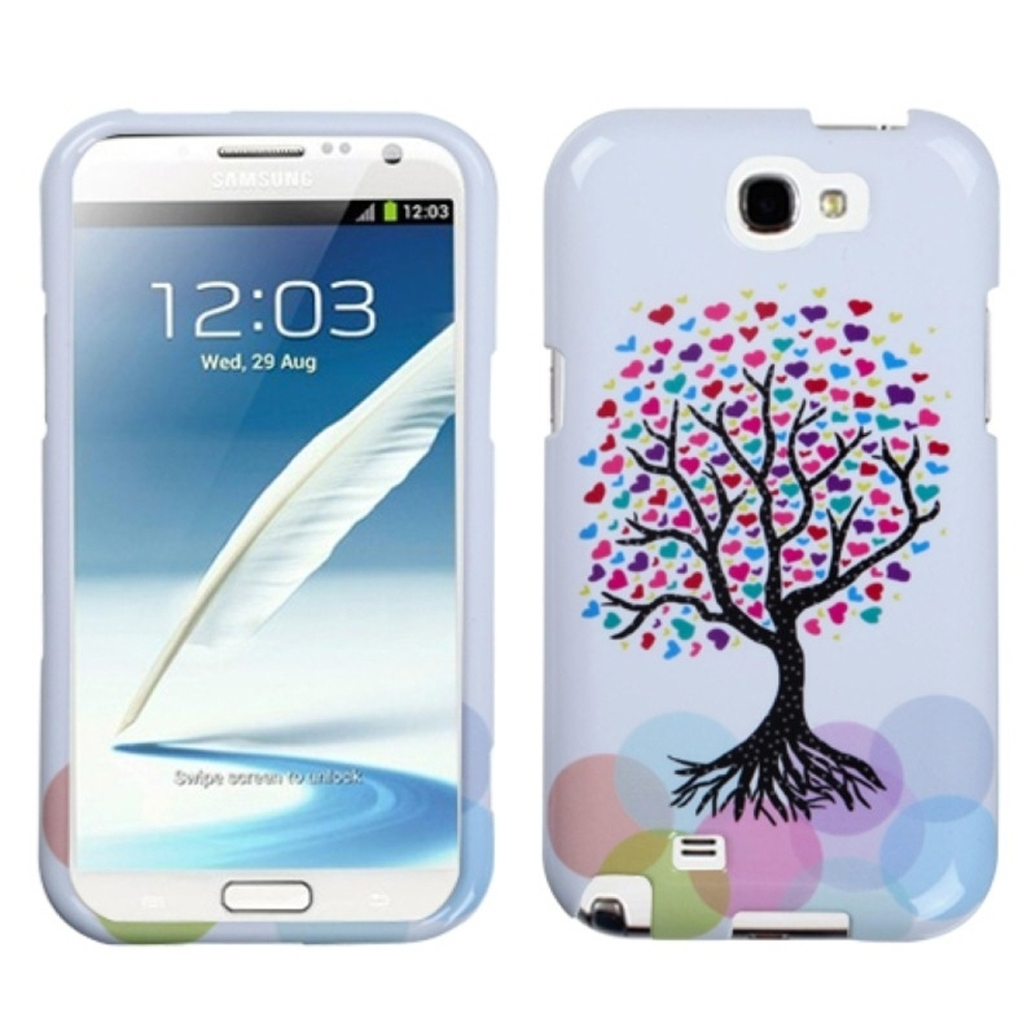 Insten Love Tree Phone Case for SAMSUNG: Galaxy Note II (T889/I605/N7100)