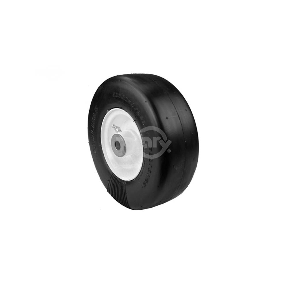 """9 X 350 X 4 Reliance Tire mounted on 4 X 2.25"""" Steel Wheel. 3.25"""" Centered Hub Length and 5 8""""... by Rotary"""