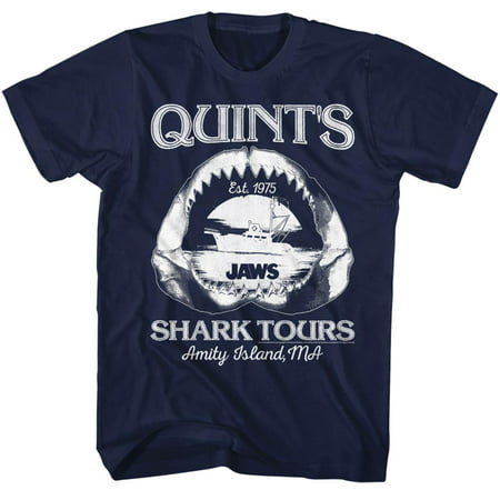 Jaws 1970s Shark Thriller Spielberg Movie Amity Island Tours Quints Adult TShirt](Clothes Of The 1970s)