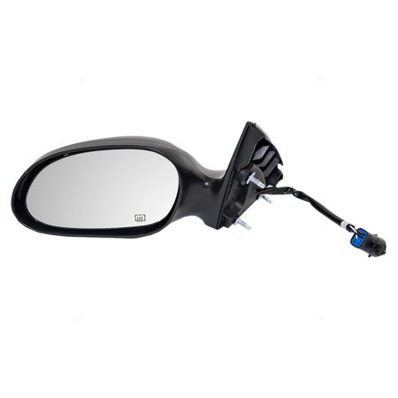 Drivers Power Side View Mirror Heated w/ Textured & Ready-to-Paint Covers Replacement for 00-07 Ford Taurus & 00-05 Mercury Sable 1F1Z17683BA