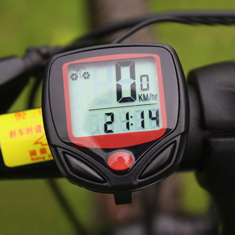 waterproof multifunction bicycle monitor - speed, odometer, trip distance, clock