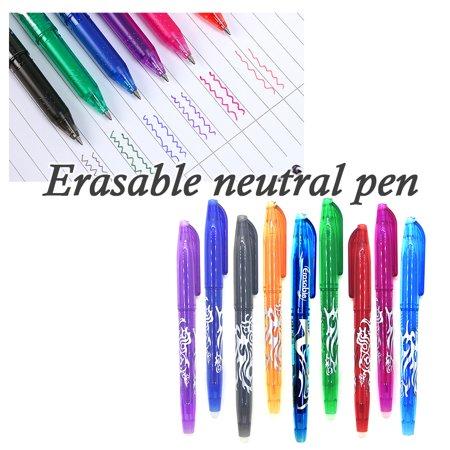 0.5mm Erasable Bullet Neutral Pen School Office Erasable Gel Ink Pen Rose Red - image 3 of 7