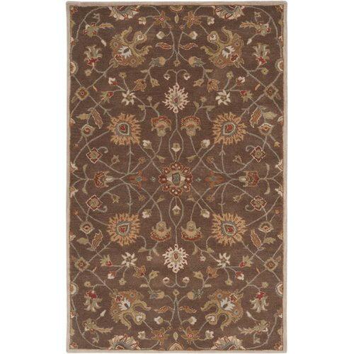 Surya Caesar Dark Brown Floral Area Rug