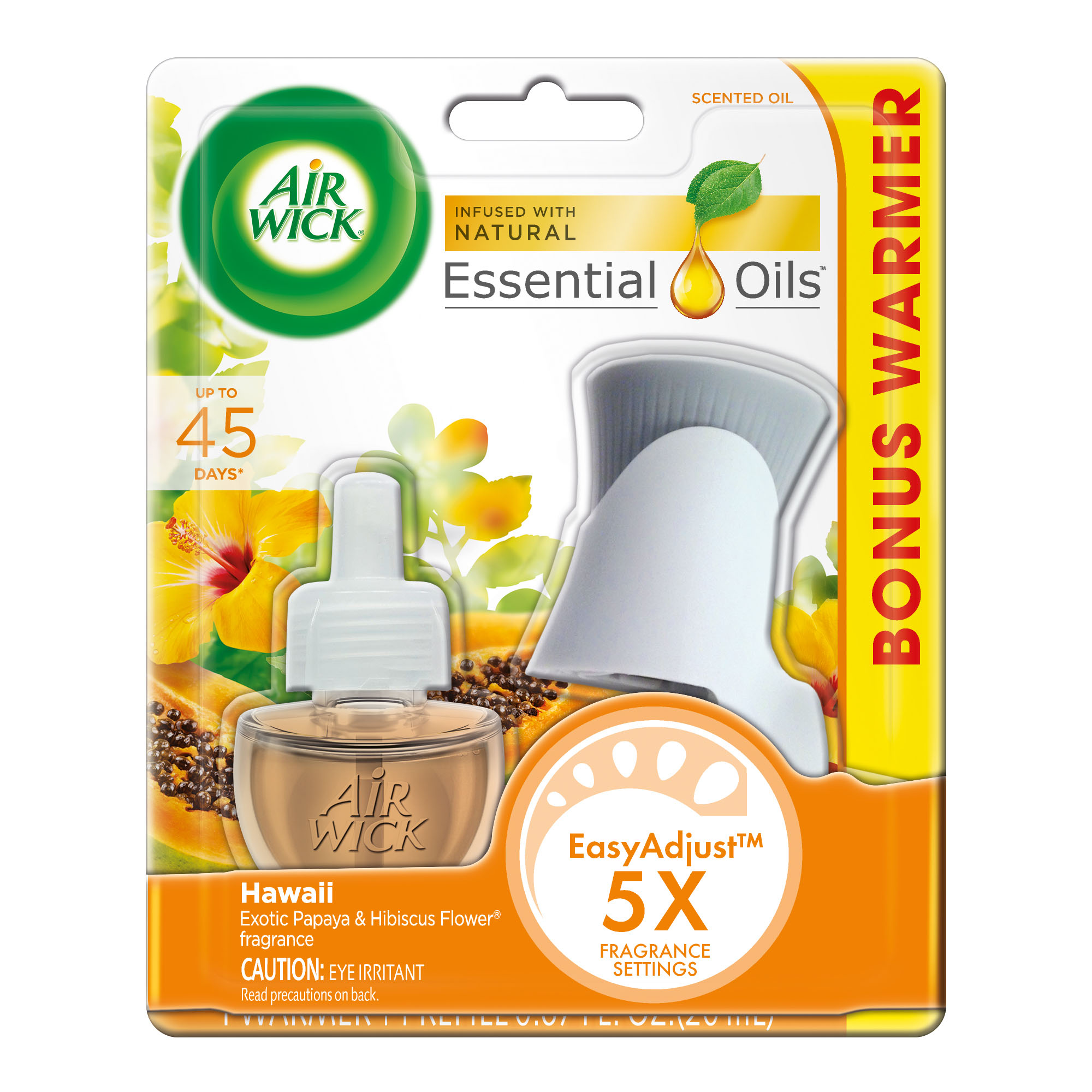 Air Wick Scented Oil Kit (Warmer + 1 Refill), Hawaii, Air Freshener