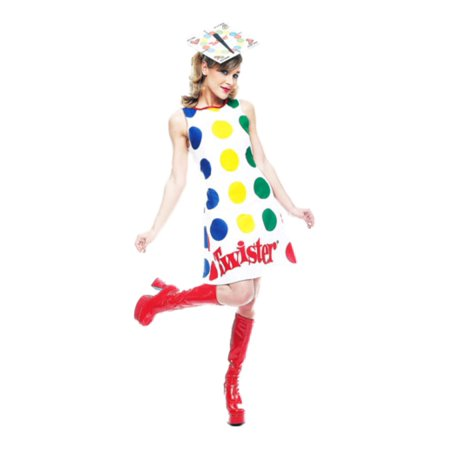 Womens Twister with Hat Costume Sexy - Twister Mat Costume