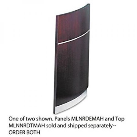 - MLNNRDEMAH - Mayline Napoli Series Wood Veneer Reception Desk Base