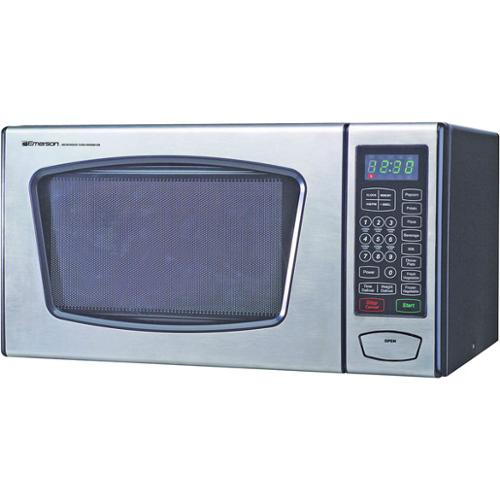 Emerson Mw8991 Microwave Oven - Countertop - 0.9 Ft³ - 900w - Stainless Steel, Black (mw8991sb)