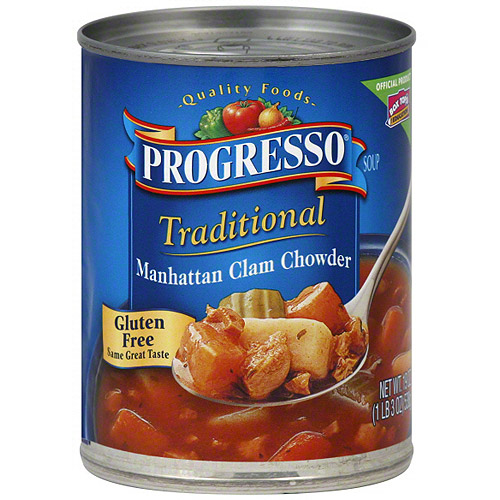 Progresso Manhattan Clam Chowder Soup, 19 oz (Pack of 12)