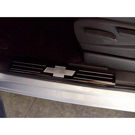 Black Billet Front Door Sill Plates 2014 2018 Chevy Silverado 1500