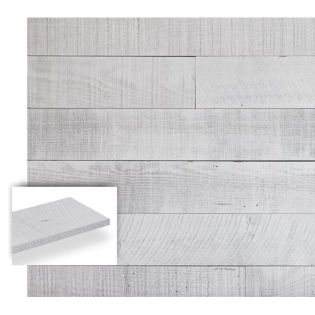 Timberwall Barnwood Collection Seas White Diy Solid Wood Wall Panel Easy L And Stick Lication 9 5 Sq Ft