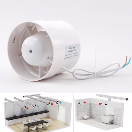 """4"""" Inline Duct Booster Fan Cooling Exhaust Blower Air Cooling Vent Fan ABS"""