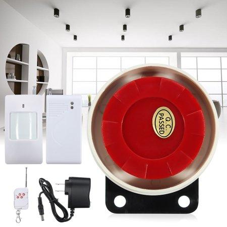 Motion Intruder Alarm (Wireless Home Security Burglar Alarm Set Intruder System Siren PIR Motion RC Remote Control)