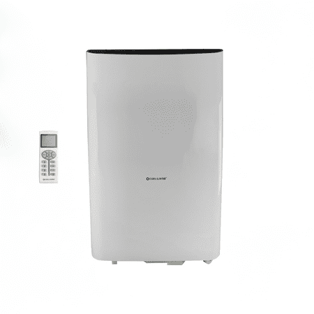 Cool Living 12,000 BTU Portable Room Air Conditioner with Dehumidifier, Remote, Window Kit