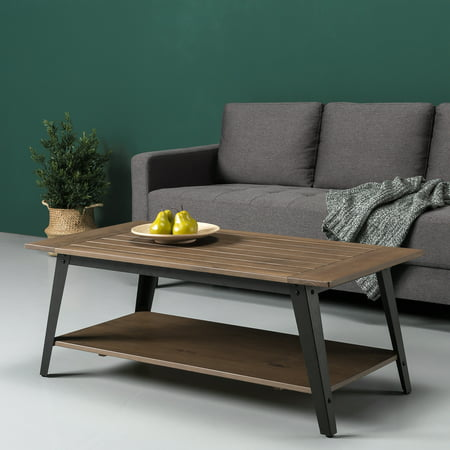 Zinus Woodrow Wood And Metal Coffee Table Walmart Com