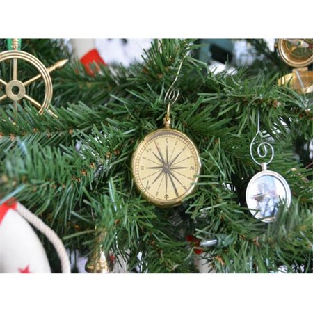 Handcrafted Model Ships Co 0606 Xmass Brass Emerson Poem Compass Christmas Tree Ornament