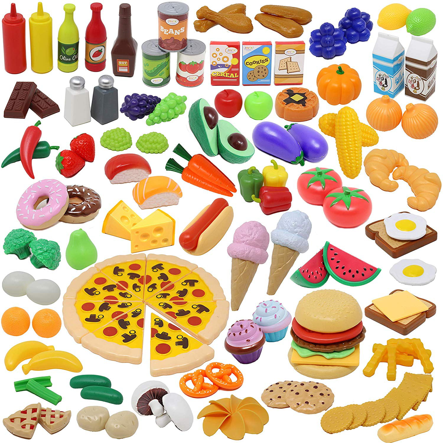135 Pieces Play Kitchen Accessories Set Kids Toddlers Toys Play Food Set Market Educational Pretend Play Play Food Vegetables Kids Kitchen Playsets Toy Food For Kids Walmart Com Walmart Com