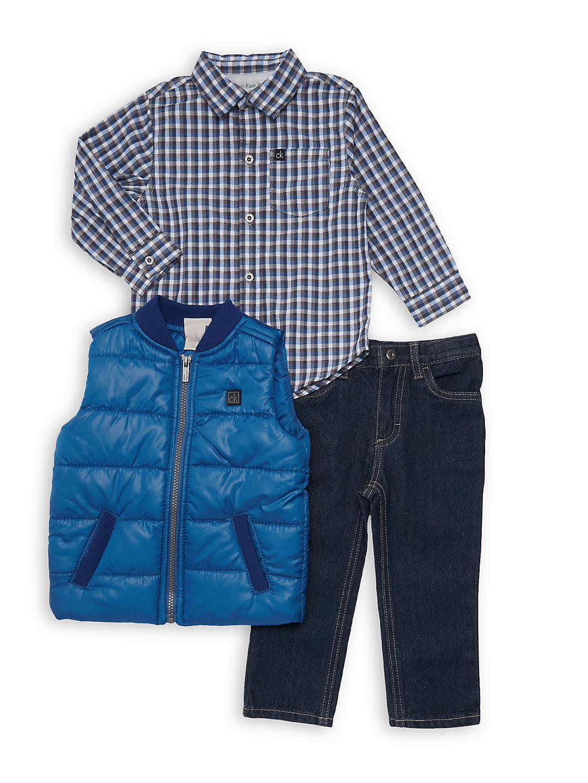 Little Boy's 3-Piece Vest Set