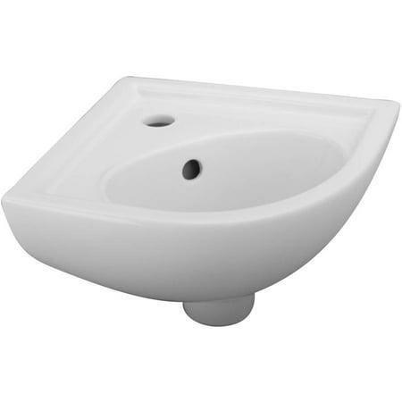 Cami Mini Corner Wall Hung Basin, White (Revival Pedestal Sink Basin)