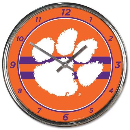 Clemson Tigers WinCraft Chrome Wall Clock Cougars Ncaa Wall Clock