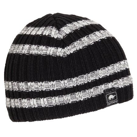 Turtle Fur Kids Magnus Acrylic Knit Beanie Fully-lined w/microfleece Black Fully Lined Hat